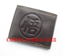 Japan anime Dragon Ball Z Son Goku wallet bifold black Two buttons purse