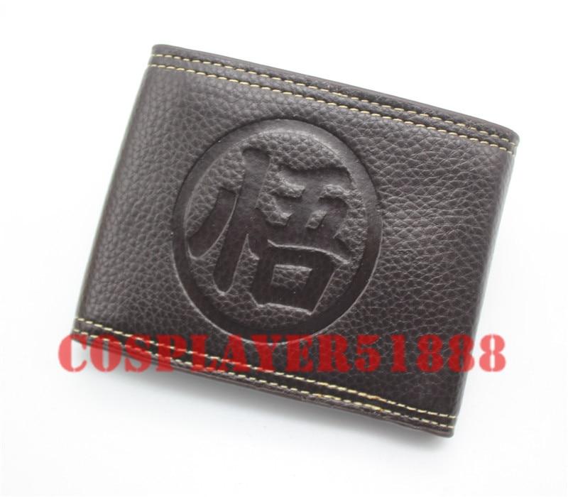 Japan anime Dragon Ball Z Son Goku wallet bifold black Two buttons purse japan anime katekyo hitman reborn wallet cosplay men women bifold coin purse