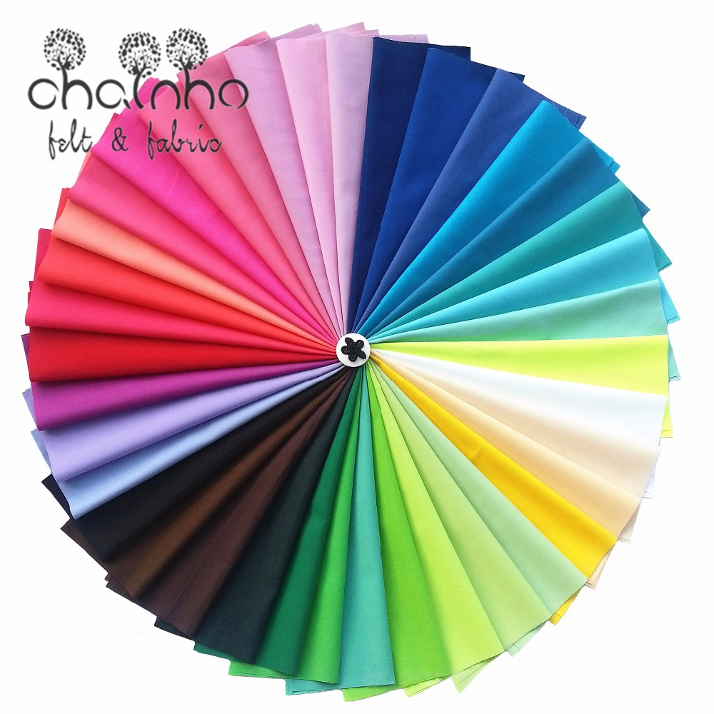 Random Mix Solid Color Cotton Fabric Patchwork For Sewing Rainbow Cloth Scrapbooking Needlework Craft Doll Bag 38pcs/lot 20x30cm
