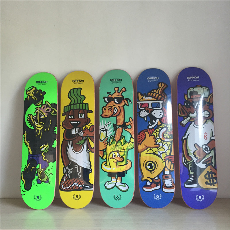 USA BRAND PRO Adult and Kids Children Graphics Skateboard Deck 8 Canadian Maple Wooden Skate Board Deck Double Rocker 1 set quality usa complete skateboard deck 7 875 8 8 125 8 25 inch