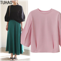 TUHAO Autumn 2018 Womens Tops and Blouses Plus Size 4XL 3XL Blouse OFFICE Ladies Shirts Tops Women Clothes Shirt Blusas MKFS