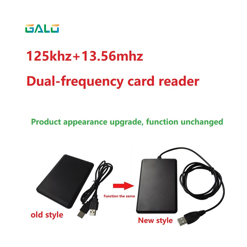 13.56mhz+125khz No driver double frequency RFID reader black high quality low price Support Windows95/98/2000/XP13.56mhz+125khz No driver double frequency RFID reader black high quality low price Support Windows95/98/2000/XP
