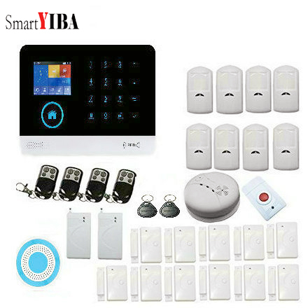 SmartYIBA GSM Alarm Autodial Intruder Alarm System Wireless WIFI App Controll Smart House Burglar Alarm SOS Signal Home SecuritySmartYIBA GSM Alarm Autodial Intruder Alarm System Wireless WIFI App Controll Smart House Burglar Alarm SOS Signal Home Security