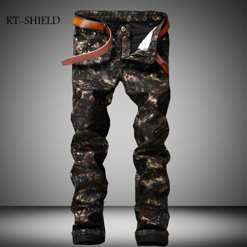 ФОТО Luxury Black Biker Jeans Men 100% Cotton Graffiti Pattern Brand Designer Mens Printed Jeans Slim Fit Denim Mens Jeans Joggers