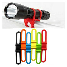 Hot Portable Cycling Light Holder Bicycle Handlebar Silicone Strap Phone Fix Strap Tie Rope Bike Lamp Flashlight Holder Bandages(China)