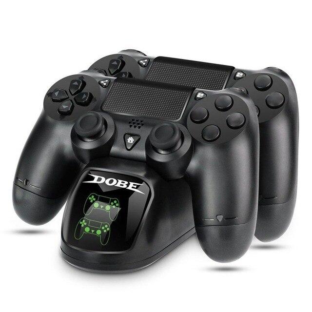 Cepat Pengisian Dock Dual Controller Charger Station Gamepad Berdiri Pemegang Base untuk PlayStation 4 PS4/Pro/Slim