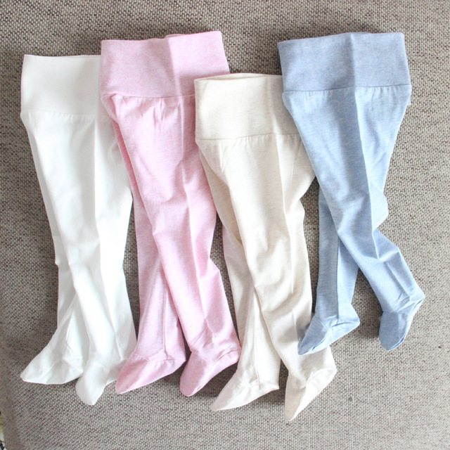 Baby pants cotton infant leggings baby newborn boy girl pants baby clothing summer kids clothes high waistband baby trousers