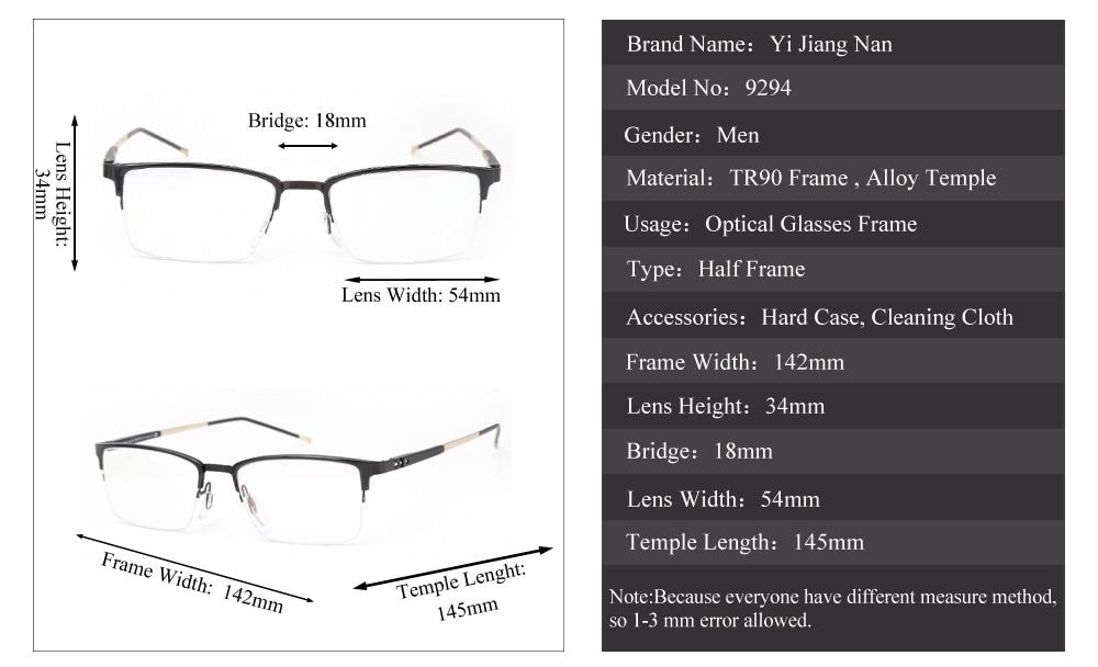 574798d6d2 ... Young Men Fresh Stylish Eyeglasses Frames Gentlemen Half Frame Optical  Progressive Glasses Frames. Size 5 YS YS2 YS3 YS4 xijie9294. FQA for  Prescription ...