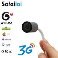 Телефон приложение просмотра 3G беспроводной мини видеонаблюдения ip камера WCDMA сим карта Motion обнаружить ONVIF микро SD карты записи Vedio камер бе