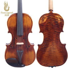 FineLegend Brand Handmade Wood Pattern Violin for professional grading with Bow and Case, 4/4 Size LCV3114