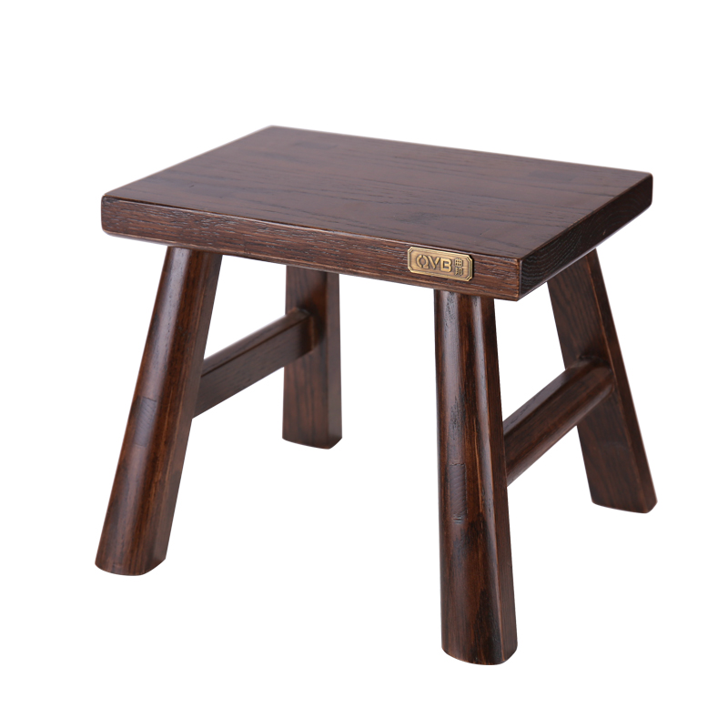 Multfunctional Solid Beech Wood Step Stool Seat For