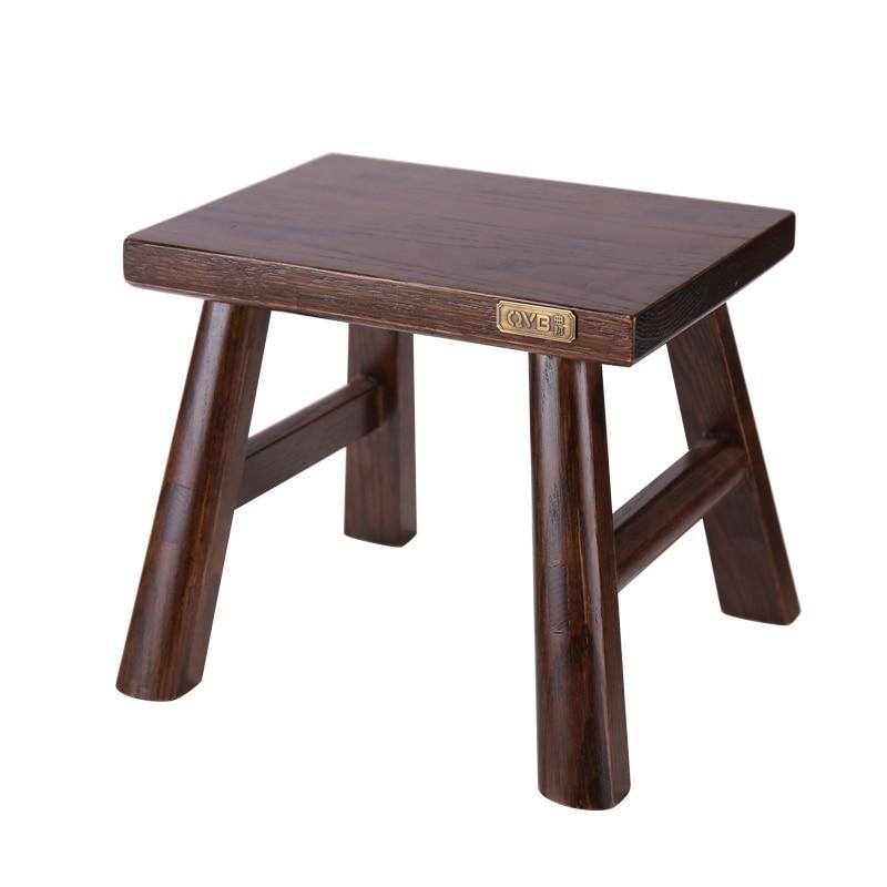 Multfunctional Solid Beech Wood Step Stool Seat For Bathroom Living Room Bedroom Garden Small Wood Bench Furniture Footstool