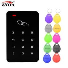 Автономный контроллер доступа с 10 шт. EM брелки RFID Клавиатура контроля доступа цифровая панель считыватель карт для системы дверного замка