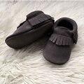 Ручной Серый Замши Детские Мокасины Детская Обувь Кожаная