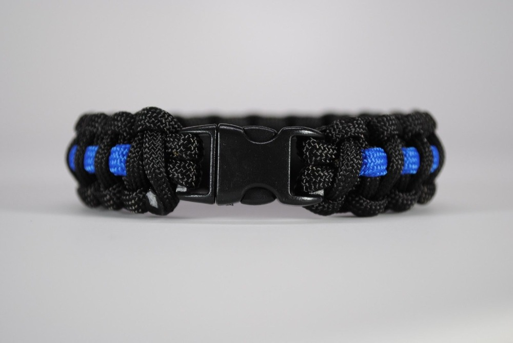 line cops blue bracelet wrist police wristband thin tbl black support silicone rubber band