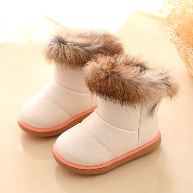 a4f32ec734452 Cotton Winter Baby Boys Girls Child Leather Shoes Boot Warm Skid-proof High  Cut Shoes Chaussure Enfant