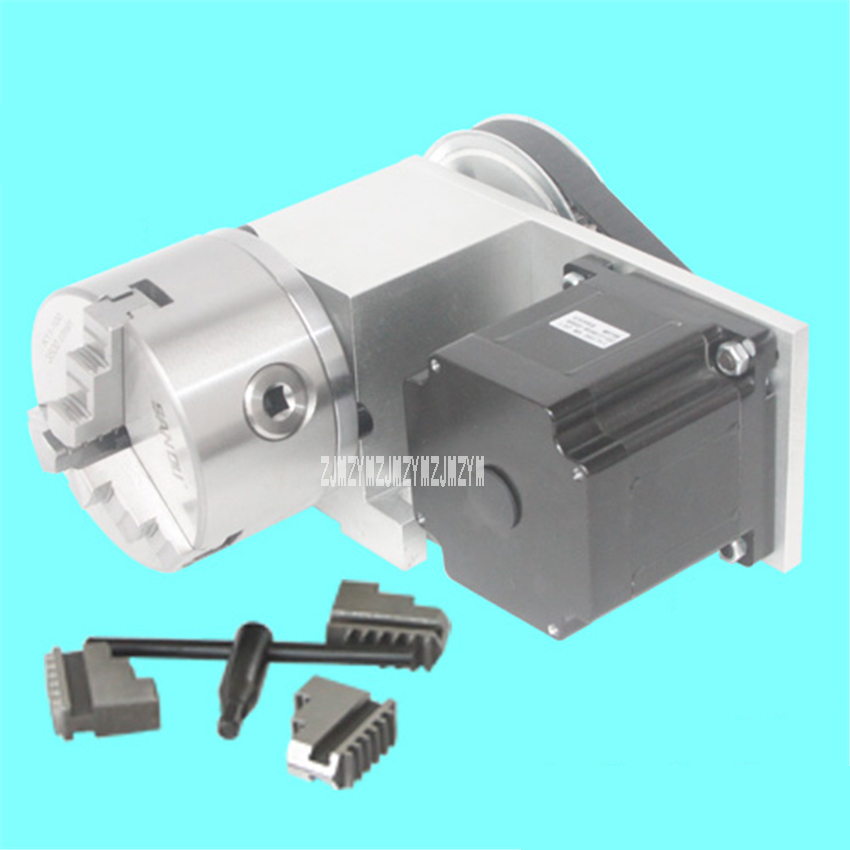 Woodworking Machinery Parts Engraving Machine Fourth Axis 3 Jaw Chuck Rotation Axis Stepper Motor Axis K11 CNC Dividing Head