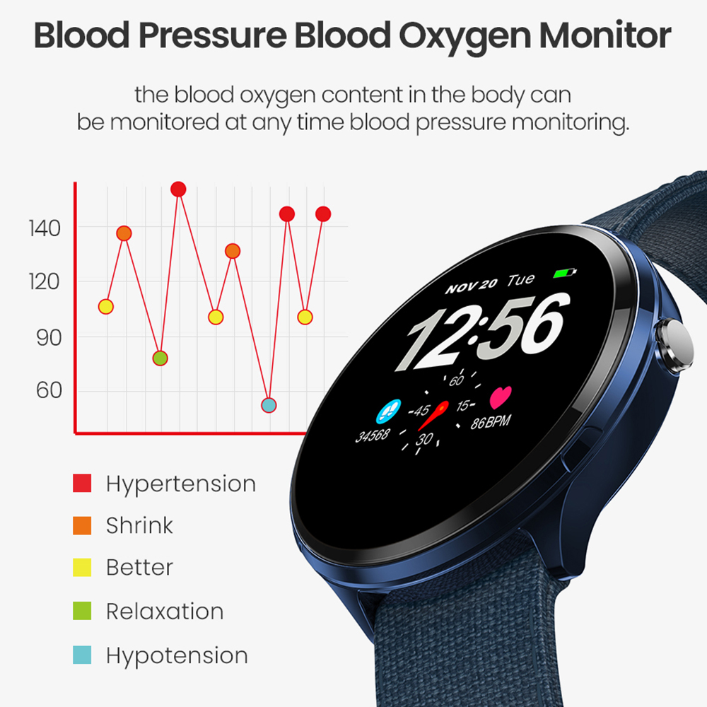 Image 4 - Virtoba 1.3'' Full Touch Screen Men Smart Watch Toughened Glass Multi Sport Modes Blood Oxygen Smartwatches PK V12 bracelet-in Smart Watches from Consumer Electronics