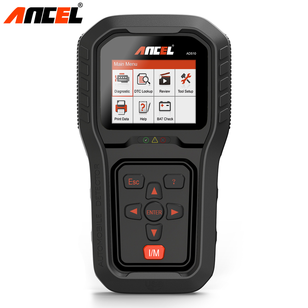 Ancel AD510 Pro OBD2 Auto Scanner For OBD 2 Cars Code Reader Erase Error Codes Engine Diagnostic Tool in Multi Language