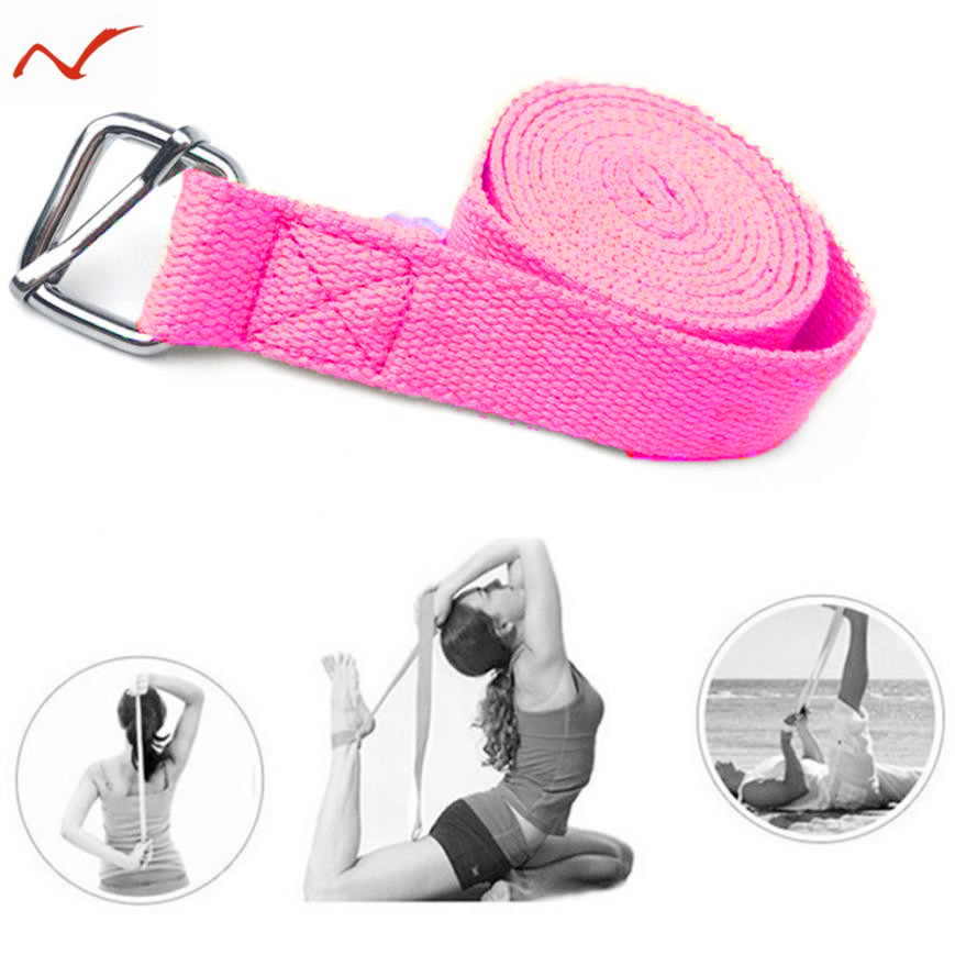 185CM-Adjustable-D-Ring-Elastic-Resistance-Band-Gym-Waist-Sport-Yoga-Stretch-Strap-Leg-Fitness-Train