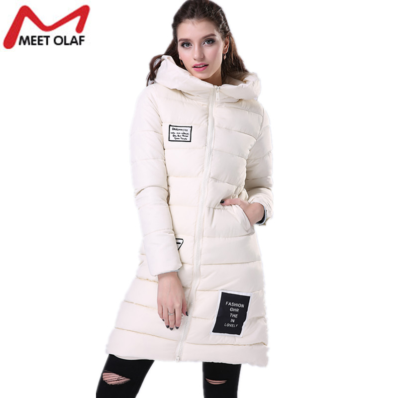 ФОТО Women Parkas Winter Hooded Thicken Coat and Jackets xxxxl Warm Cotton Padded Ladies Long Wadded Parka Outerwear Tops YL019