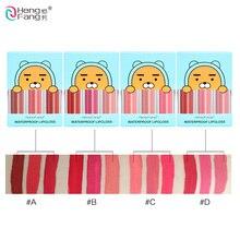 3 шт./лот длительный Водонепроницаемый Матовая жидкая губная помада 4 цвета Блеск для губ 2.9gx3 красота, бренд для макияжа HengFang# H7015