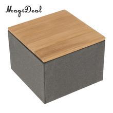Bamboo Lid Tea Storage Box Tea Packing Box Handmade Natural Tea Coffee Caddy Jar Storage Holder Canister