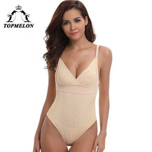 94b7ba31e2 TOPMELON Women Sexy Push Up Lace Underwear Slimming Bodysuits Gothic Waist  Tummy Waist Control Shaperwear Backless Body Shapers
