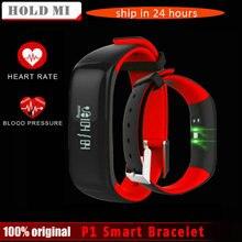 P1 Smartband Montres Sang Pression Bluetooth Smart Bracelet Moniteur de Fréquence Cardiaque Intelligent Bracelet de Remise En Forme pour Android IOS Téléphone
