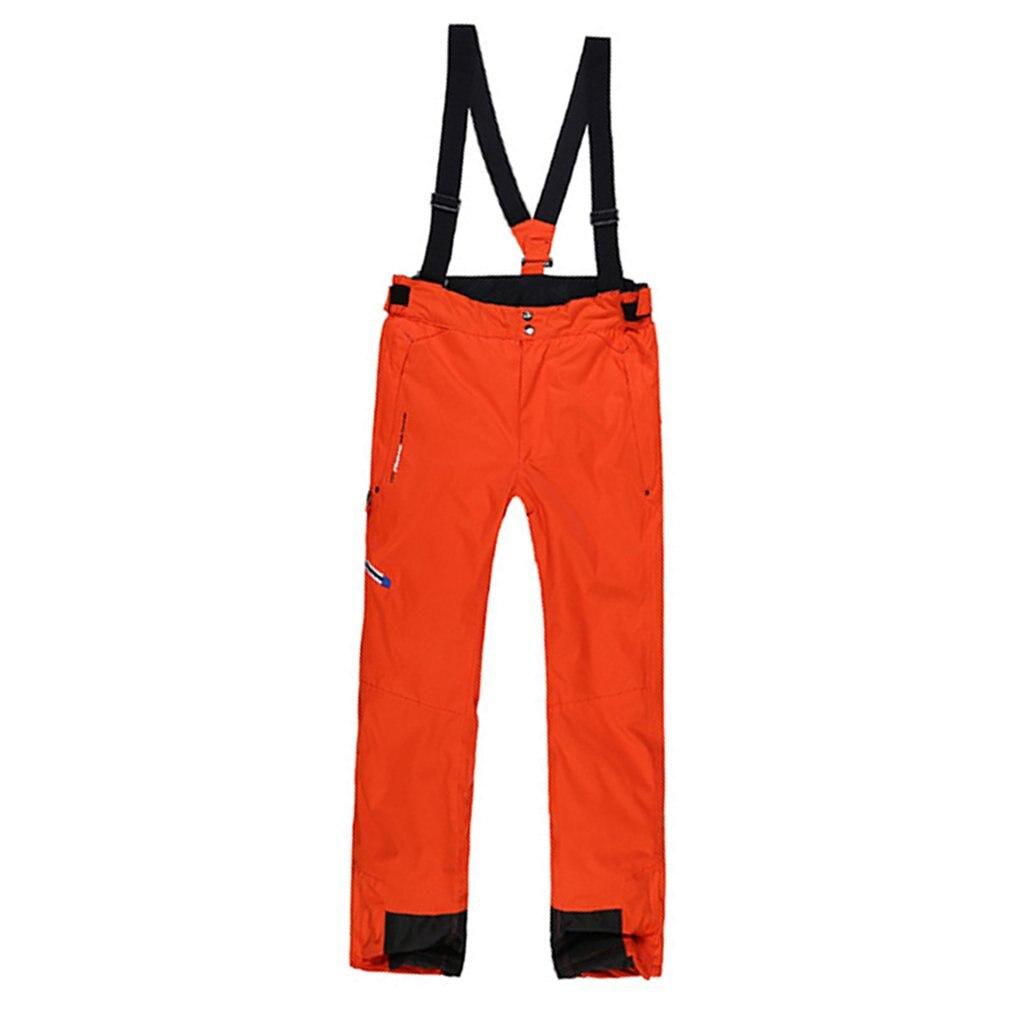 Pantalon de Ski d'hiver épais et chaud pour hommes pantalon à bretelles imperméable coupe-vent