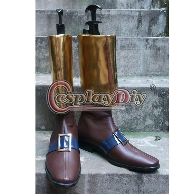 Hector Castlevania Cosplay de Cuero de Imitación de Cosplay Boots Por Encargo D1009