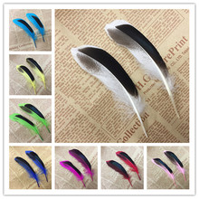 Multicolor high freight sale 20 PC natural feathers of wild duck 4 to 6 inches / 10 - 15 cm DIY decorative handicrafts