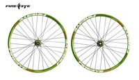 Fire Eye 27.5er 27.5 inch 650B MTB moutain bike bicycle wheels disc brake front15*100mm rear12*142mm Anodized green color