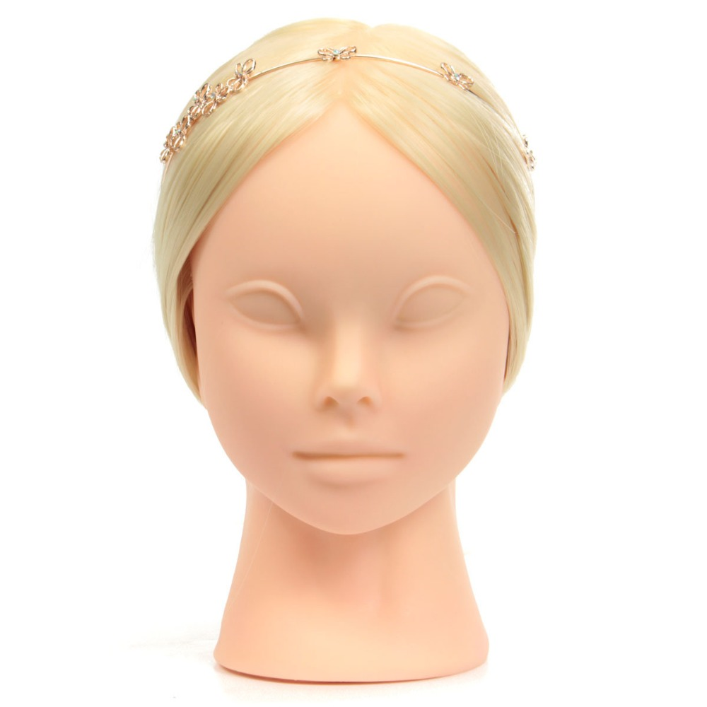 2019 Bride New Hair Training Head Models for Woman Face Cosmetology Practice Make up Mannequin Head Blonde Hair With Clamp