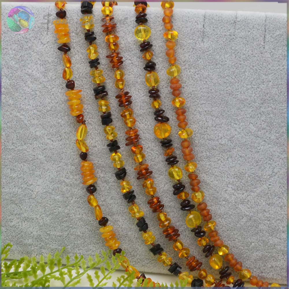 Natural Baltic Amber 70cm Chips Necklace - Wholesale Price