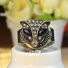 Fashion Fox Rhinestone Finger Ring Watch Women Crystal Alloy