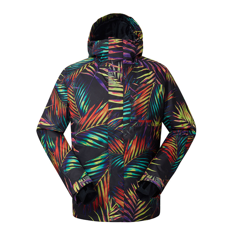Gsou snow combinaison de ski pour hommes vêtements de snowboard chauds résistants à l'usure veste de ski imperméable et respirante pour hommes