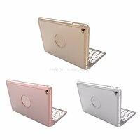 Aluminum Backlit Bluetooth Keyboard Smart Folio Case 7 Backlight For IPad Mini 4