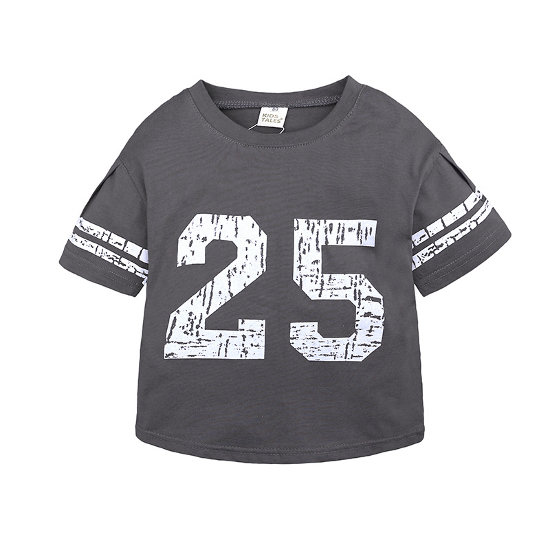 T-Shirt Kids Girls Tops Short-Sleeve Printing Toddler Baby-Boy Boys Casual Summer Letter