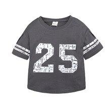 Baby Boy Summer T-Shirt Kids Short Sleeve Casual Loose Printing Letter25 T-shirt Tops Toddler Boys Girls Summer Clothes Top tee недорого