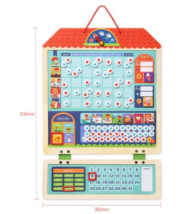 Children's Schedules Wooden Reward Sheet For Children Self-discipline Growth Behavior Record Board