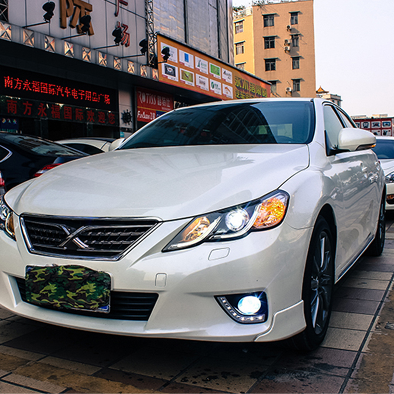 Car styling case for Toyota Mark X headlights 2012 Mark X Headlights LED Headlight DRL Lens Double Beam HID