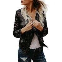 Women Long Sleeve Solid Sequined Irregular Cardigan Tops Cover Up Coat Ropa De Mujer Moda