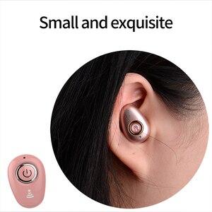 Image 4 - בלתי נראה קטן במיוחד ספורט מיני סטריאו S650 Bluetooth אוזניות אלחוטי 1earbud עבור גברים נשים ספורט