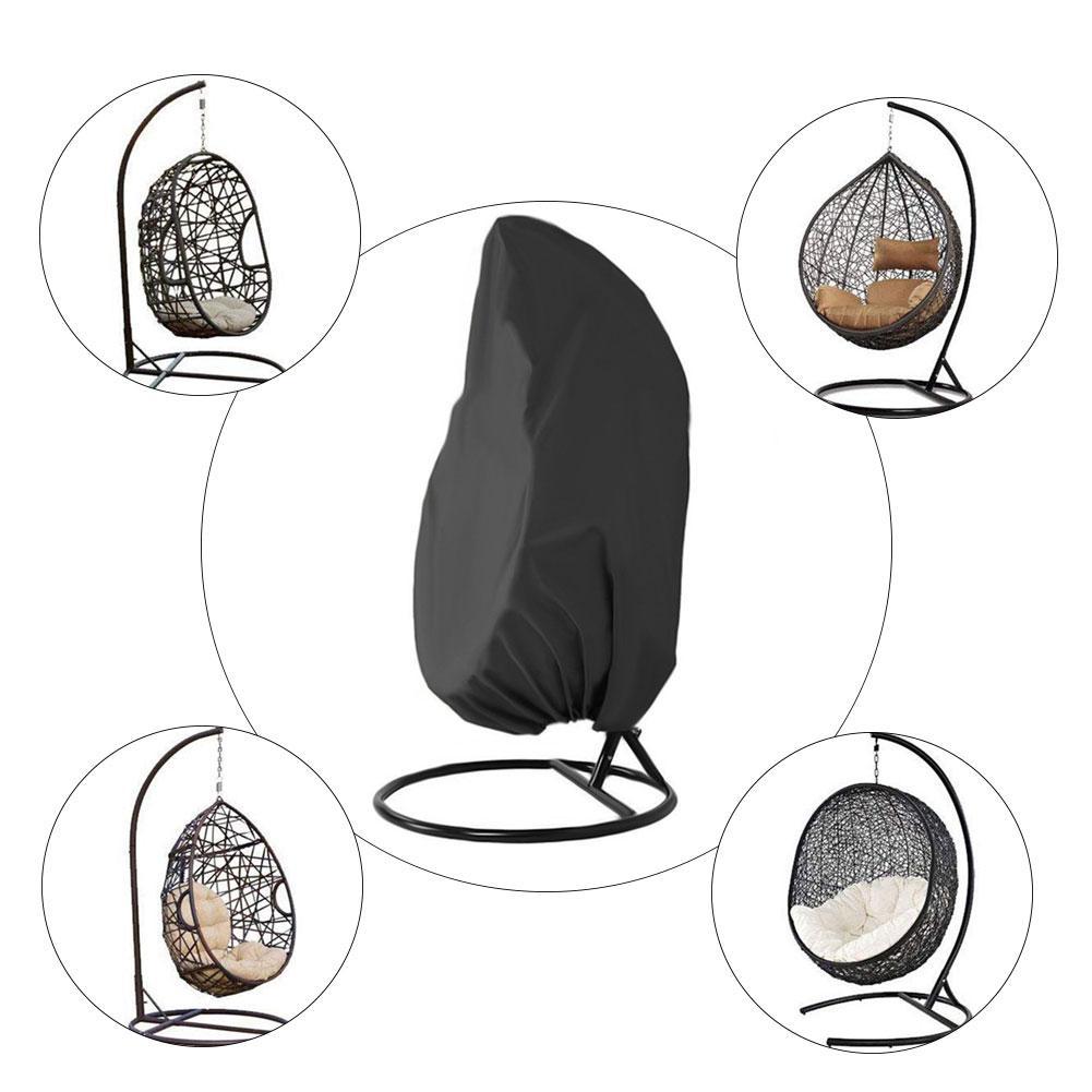 210D Durable balançoire chaise couverture balcon suspendu siège étanche à la poussière Patio suspendu chaise couverture pour jardin extérieur 20E