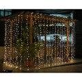 2016 6 M x 3 M LED Net Seqüência de Luz Cortina de Luz de Natal Festa de Natal Festival Indoor/Outdoor Decoração Twinkle Motivo Icicle luz