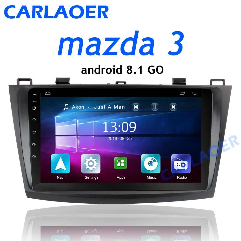 For Mazda 3 2004-2013 maxx axela android 8.1 Car DVD GPS Radio Stereo 1G 16G WIFI Free MAP Quad Core 2 din Car Multimedia Player