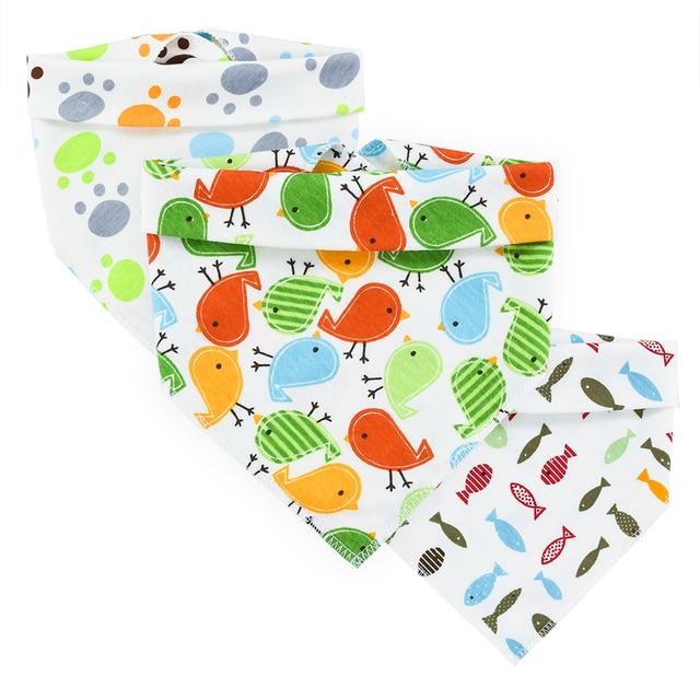 Children's Clothe Triangle Baby Bibs Cotton Kids Bandana Accessories Cute Pattern Toddler Triangle Newborn Towel Bibs Burp