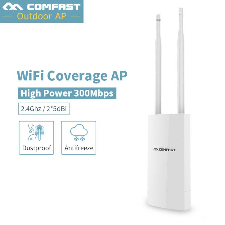 купить Outdoor Weatherproof CPE/Wifi Extender/Access Point/Router 2.4GHz 300Mbps Dual Antenna wireless wifi repeater signal amplifier
