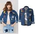 Super Good Quality 2016 Fashion Boyfriend Jacket Women Denim Jackets Coats Manteau Femme Veste Femme Manche Longue